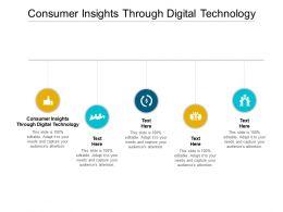 Consumer Insights Through Digital Technology Ppt Powerpoint Presentation Ideas Design Cpb