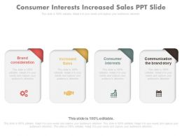 Consumer Interests Increased Sales Ppt Slide