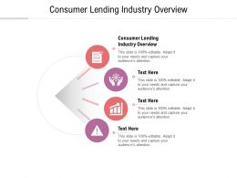 Consumer Lending Industry Overview Ppt Powerpoint Presentation Visual Aids Background Images Cpb