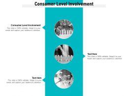 Consumer Level Involvement Ppt Powerpoint Presentation Ideas Vector Cpb