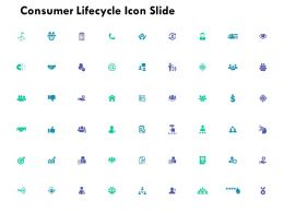 Consumer Lifecycle Icon Slide Management Ppt Powerpoint Presentation File Model