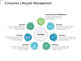 Consumer Lifecycle Management Ppt Powerpoint Presentation Show Graphics Template Cpb