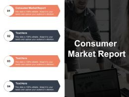 Consumer Market Report Ppt Powerpoint Presentation File Layout Ideas Cpb