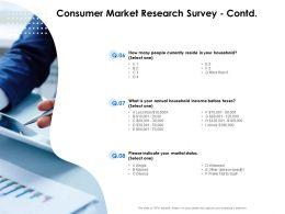Consumer Market Research Survey Contd Household Ppt Presentation Slides Maker