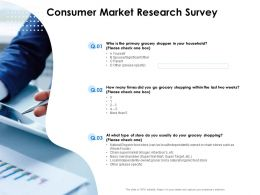 Consumer Market Research Survey Grocery Ppt Powerpoint Slides Outfit