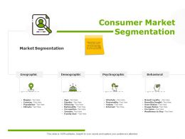 Consumer Market Segmentation Benefits Sought Ppt Powerpoint Presentation Professional Master Slide