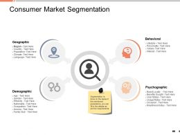Consumer Market Segmentation Geographic Ppt Powerpoint Presentation Graphics