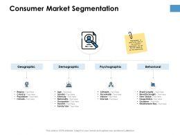 Consumer Market Segmentation Ppt Powerpoint Presentation Outline Portfolio