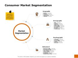 Consumer Market Segmentation Ppt Powerpoint Presentation Tutorials