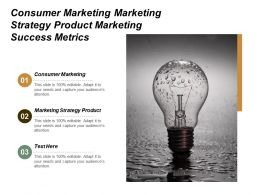 Consumer Marketing Marketing Strategy Product Marketing Success Metrics Cpb