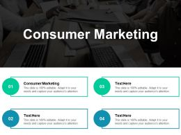 Consumer Marketing Ppt Powerpoint Presentation File Icon Cpb