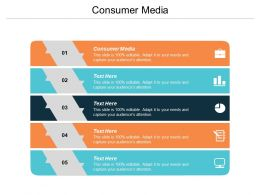 Consumer Media Ppt Powerpoint Presentation Icon Deck Cpb