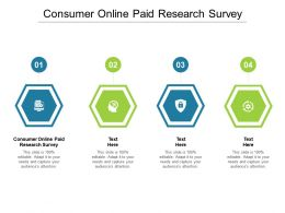 Consumer Online Paid Research Survey Ppt Powerpoint Presentation Show Layout Cpb