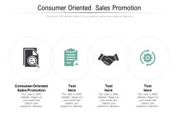Consumer Oriented Sales Promotion Ppt Powerpoint Presentation Gallery Layouts Cpb