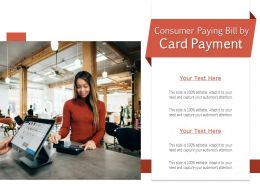 Consumer Paying Bill By Card Payment