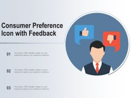Consumer Preference Icon With Feedback