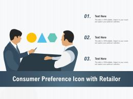 Consumer Preference Icon With Retailor
