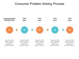 Consumer Problem Solving Process Ppt Powerpoint Presentation Summary Cpb