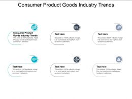 Consumer Product Goods Industry Trends Ppt Powerpoint Presentation File Topics Cpb