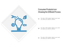 Consumer Products Icon Showing The Different Process