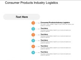 Consumer Products Industry Logistics Ppt Powerpoint Presentation Styles Designs Cpb