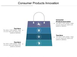 Consumer Products Innovation Ppt Powerpoint Presentation File Background Cpb