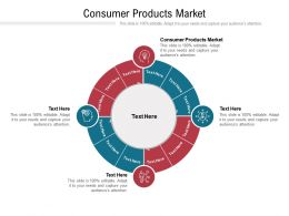 Consumer Products Market Ppt Powerpoint Presentation Visual Aids Background Images Cpb