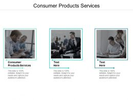 Consumer Products Services Ppt Powerpoint Presentation Ideas Introduction Cpb