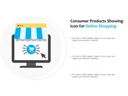 Consumer Products Showing Icon For Online Shopping