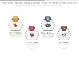 Consumer Products Trends Example Powerpoint Slide Design Templates