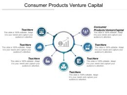 Consumer Products Venture Capital Ppt Powerpoint Presentation File Background Designs Cpb