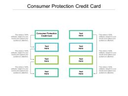 Consumer Protection Credit Card Ppt Powerpoint Layouts Graphics Example Cpb