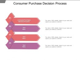 Consumer Purchase Decision Process Ppt Powerpoint Presentation Outline Deck Cpb