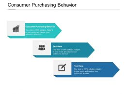 Consumer Purchasing Behavior Ppt Powerpoint Presentation Outline Clipart Images Cpb