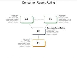 Consumer Report Rating Ppt Powerpoint Presentation Summary Model Cpb