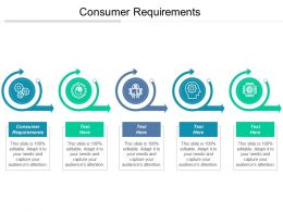 Consumer Requirements Ppt Powerpoint Presentation File Background Image Cpb