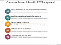 Consumer Research Benefits Ppt Background