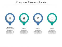 Consumer Research Panels Ppt Powerpoint Presentation Infographic Template Example Topics Cpb