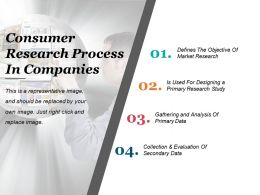 Consumer Research Process In Companies Ppt Slide