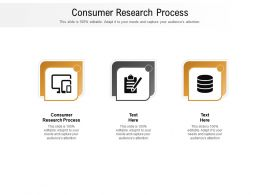 Consumer Research Process Ppt Powerpoint Presentation Inspiration Example File Cpb