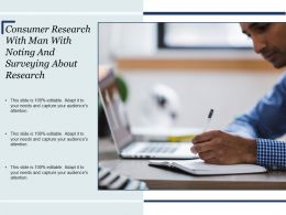 Consumer Research With Man With Noting And Surveying About Research