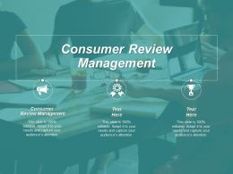 Consumer Review Management Ppt Powerpoint Presentation Infographic Template Background Designs Cpb