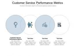 Consumer Service Performance KPIS Ppt Powerpoint Presentation Portfolio Objects Cpb