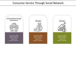 Consumer Service Through Social Network Ppt Powerpoint Presentation Infographics Shapes Cpb