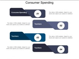 Consumer Spending Ppt Powerpoint Presentation Ideas Example Cpb