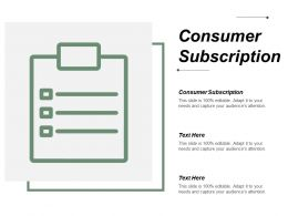 Consumer Subscription Ppt Powerpoint Presentation Ideas Design Inspiration Cpb
