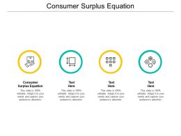 Consumer Surplus Equation Ppt Powerpoint Presentation Model Themes Cpb