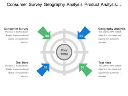 Consumer Survey Geography Analysis Product Analysis Competitor Analysis