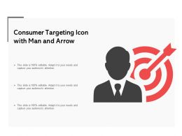 Consumer Targeting Icon With Man And Arrow