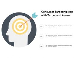 Consumer Targeting Icon With Target And Arrow